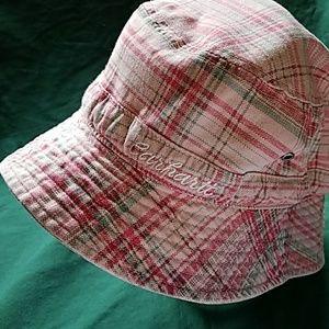 Carhartt Girls Pink Plaid Bucket Hat Small 5Y - 7Y